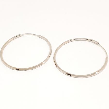 Cercei rotunzi din argint 4.2 cm Cybil4