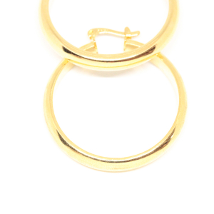 Cercei rotunzi placati cu aur 3.6 cm Platon3