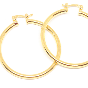Cercei rotunzi placati cu aur 4 cm Factor-Y [1]