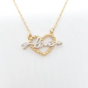 Colier cu inimioara placat cu aur 52 cm Cheeky1