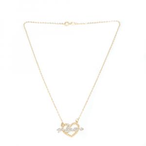 Colier cu inimioara placat cu aur 52 cm Cheeky0