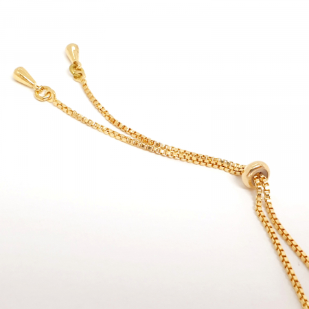 Colier reglabil luxury placat cu aur Princess [2]