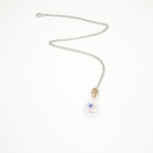 Colier cu sticluta de parfum decor sticla de Murano Venice3