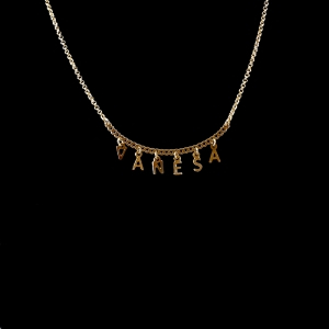Colier personalizat cu orice nume placat cu aur12