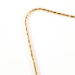 Colier personalizat placat cu aur Litera A5