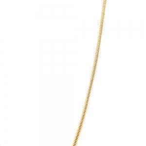 Colier personalizat placat cu aur Litera E4