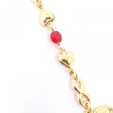 Colier placat cu aur Nomine del Rosa1