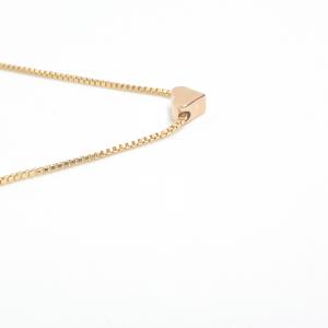 Colier cu inimioara placat cu aur 45-50 cm Stage3