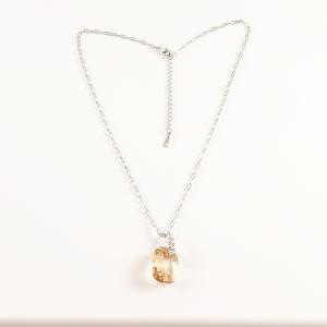 Colier placat cu aur alb Louisa1