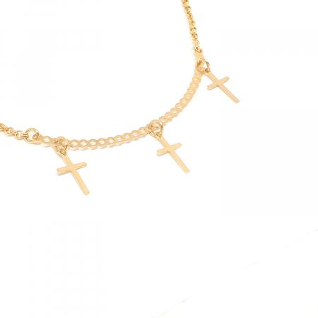 Colier cu 3 cruciulite placat cu aur Directrice [0]