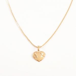 Colier placat cu aur Golden Heart2