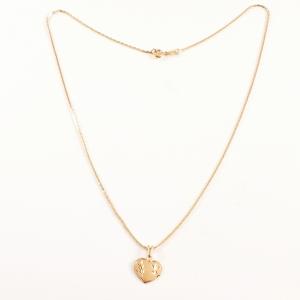 Colier placat cu aur Golden Heart1