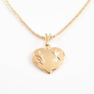 Colier placat cu aur Golden Heart0