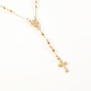 Colier tip rosariu placat cu aur Emergente6