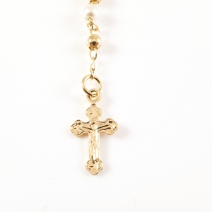 Colier tip rosariu placat cu aur Emergente2