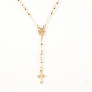 Colier tip rosariu placat cu aur Emergente1