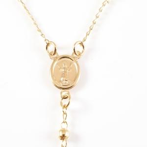 Colier tip rosariu placat cu aur Emergente3