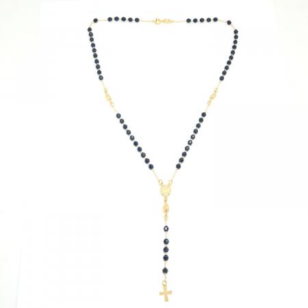 Colier tip rosariu placat cu aur Watta