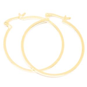 Cercei rotunzi placati cu aur 3.3 cm Kappo0