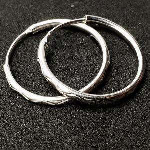 Creole 2.3 cm Silver din argint rodiat0