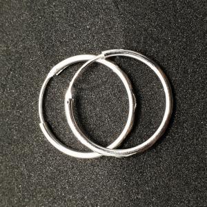 Creole 2.3 cm Silver din argint rodiat2