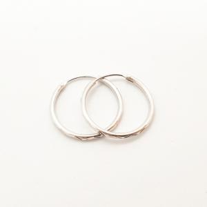 Creole 2.3 cm Silver din argint rodiat4