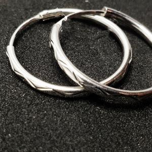 Creole 2.3 cm Silver din argint rodiat1