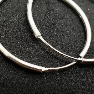 Creole 3.4 cm Silver din argint rodiat3