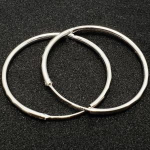 Creole 3.4 cm Silver din argint rodiat0
