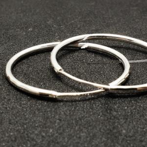 Creole 3.4 cm Silver din argint rodiat1