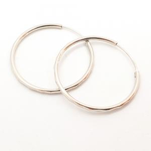 Creole 3.4 cm Silver din argint rodiat6