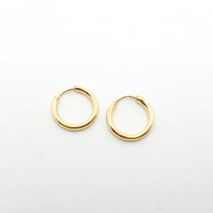 Creole 1 cm placate cu aur Roxenna2