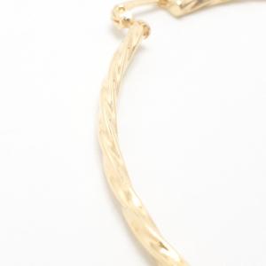 Creole 5.8 cm impletite placate cu aur Nancy4