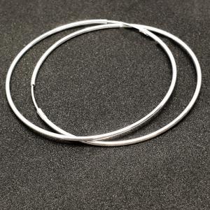 Creole 5 cm Silver din argint1