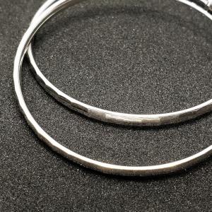 Creole 5 cm Silver din argint rodiat1