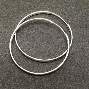 Creole 5 cm Silver din argint rodiat0