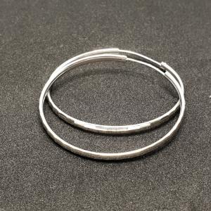 Creole 5 cm Silver din argint rodiat2