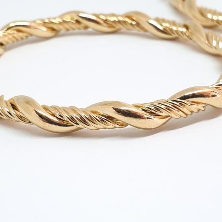 Creole luxury 4.7 cm impletite placate cu aur Golden Waterfall [0]
