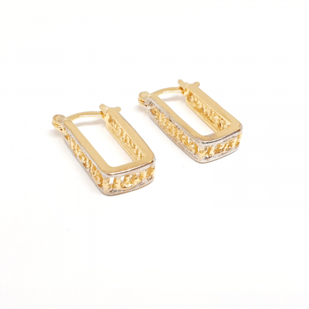 Creole dreptunghiulare placate cu aur Linette [3]
