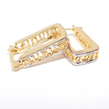 Creole dreptunghiulare placate cu aur Linette [1]