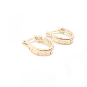 Creole ovale 1.3 cm placate cu aur Bratto0