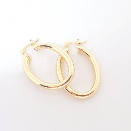 Creole ovale 3 cm placate cu aur Teenager2