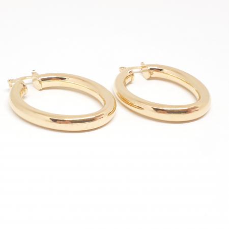 Creole ovale 3 cm placate cu aur Teenager3