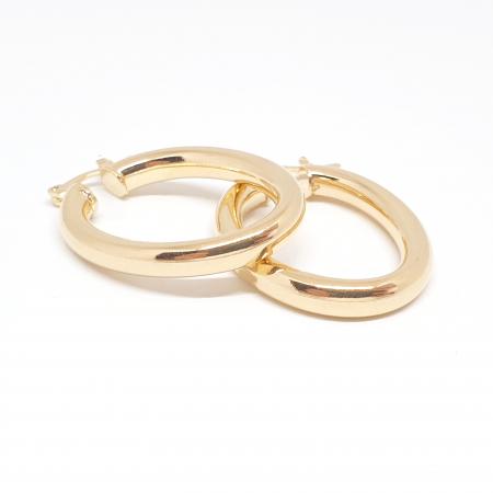Creole ovale 3 cm placate cu aur Teenager1