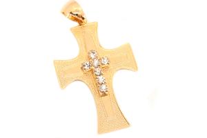 Cruce masiva placata cu aur Monastery0