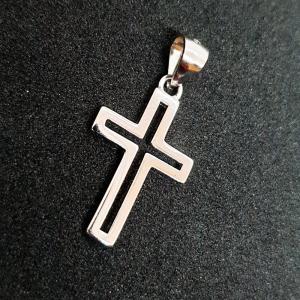 Cruciulita din argint rodiat Saint Michael0