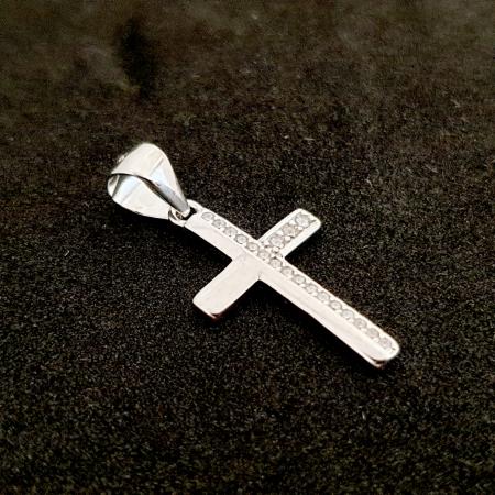Cruciulita din argint rodiat Ameno [1]