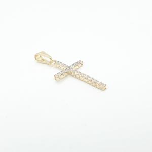 Cruciulita placata cu aur Iris2