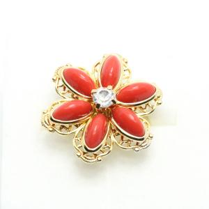 Inel cu floare mare pentru femei placat cu aur Yearn3