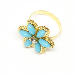 Inel cu floare mare pentru femei placat cu aur Brink1